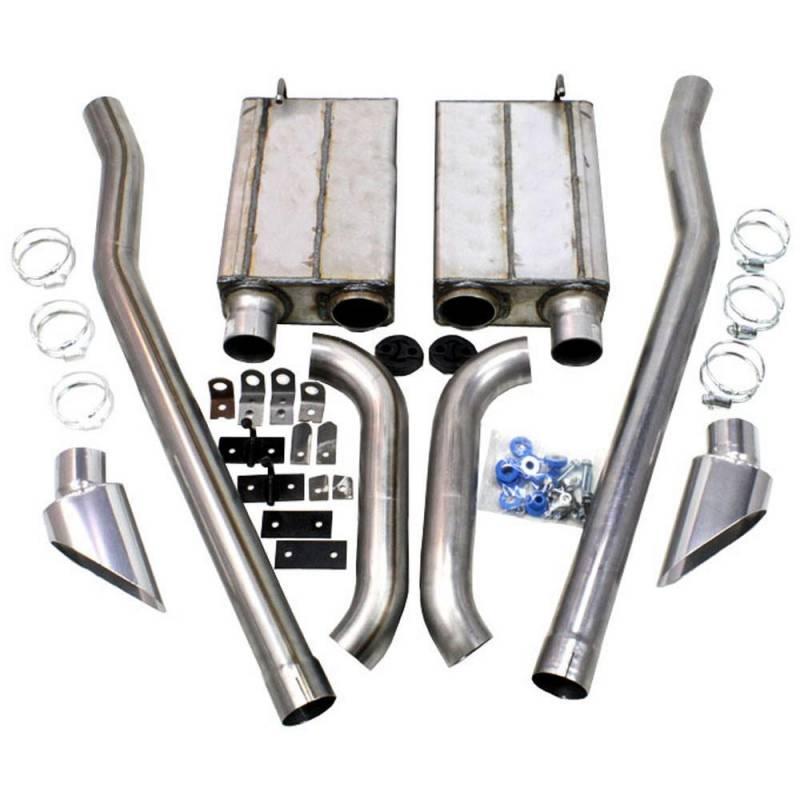 65-68 Mustang JBA Side Exit Exhaust Kit, Stainless Steel