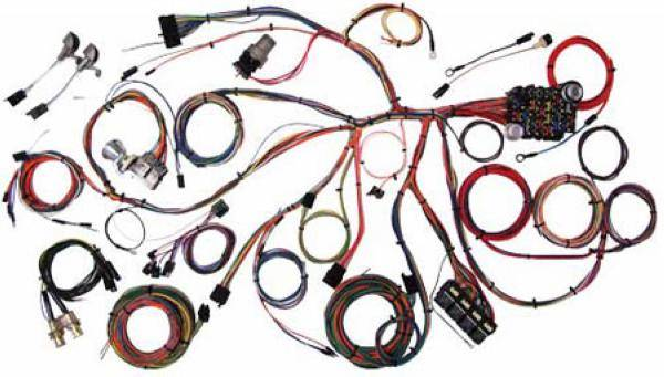 67 68 mustang complete chassis wire harness kit, classic update series classic mustang main wiring harness