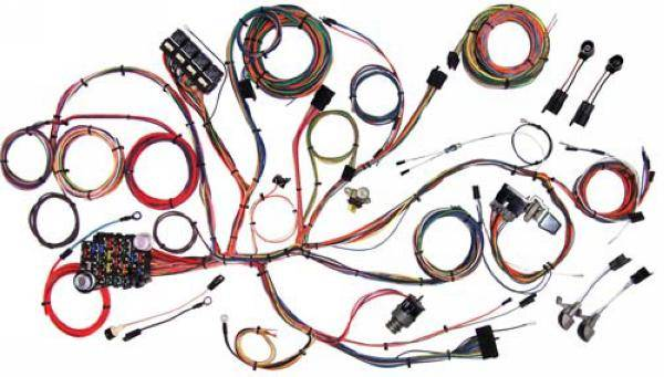 american auto wire - 64 - 66 mustang complete chassis wire harness kit,  classic update