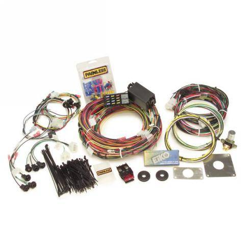 64 66 mustang complete painless wire harness