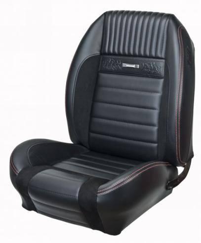 64 66 Mustang Tmi Pony Sport R Seat Upholstery Black Black Blue