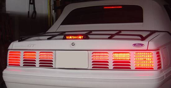 83 - 93 Mustang LED Tail Lights, Sequential