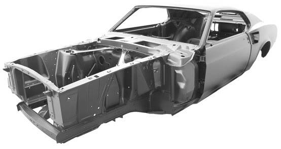 1969 Mustang Fastback Dynacorn Body
