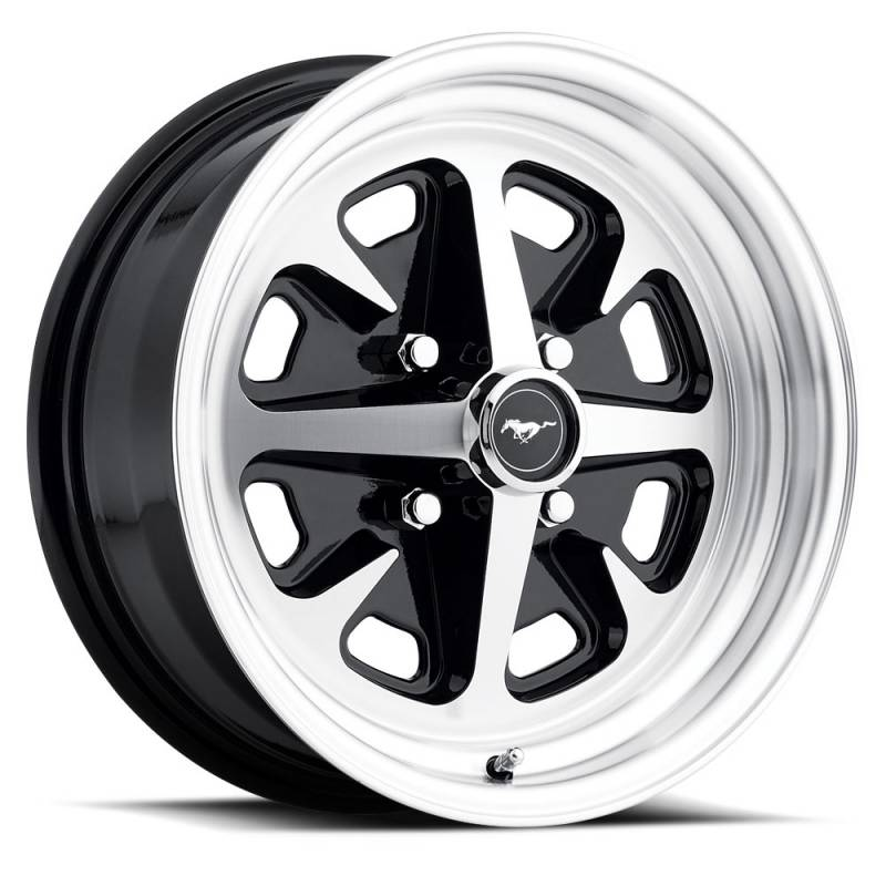 mustang magnum ii wheel additional machined gloss 15x6