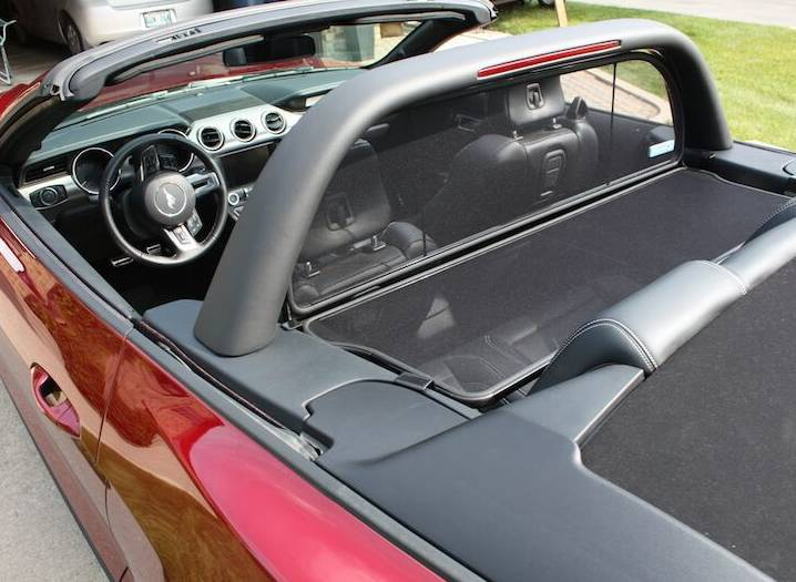 15 19 Mustang Convertible Wind Deflector