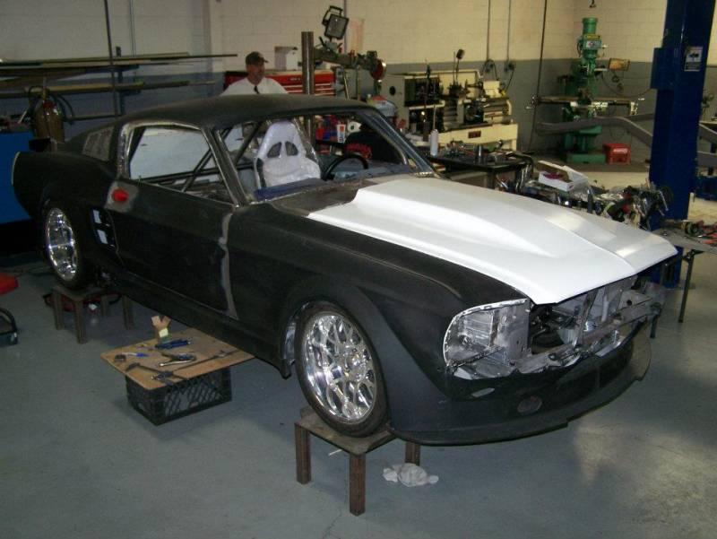 67 68 Mustang Cowl Induction Fiberglass Hood