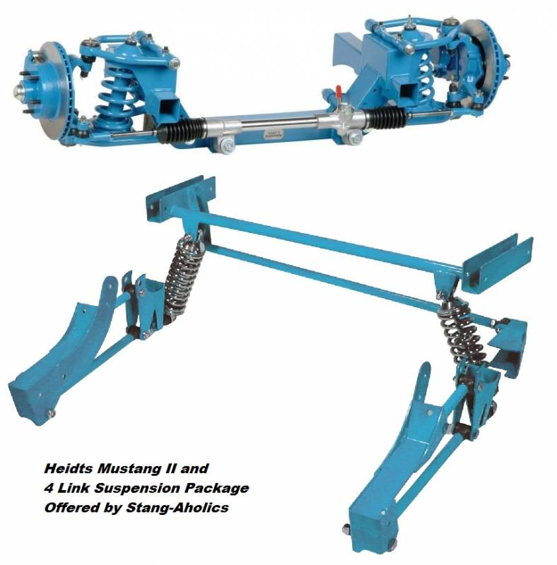65 - 70 Mustang Heidts Mustang II IFS and 4-Link Rear Suspension Package