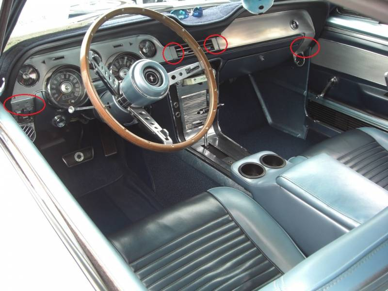 67 mustang deluxe interior ac vent aluminum inserts for dash for 1967 mustang interior pictures