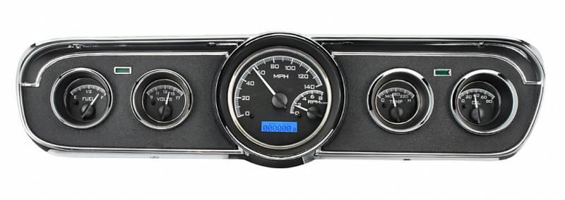 2015 Mustang Wheels >> 65 - 66 Mustang Deluxe Interior VHX Instruments, Black ...