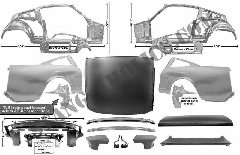 Dynacorn 64 66 Mustang Coupe To Fastback Sheet Metal Conversion Kit