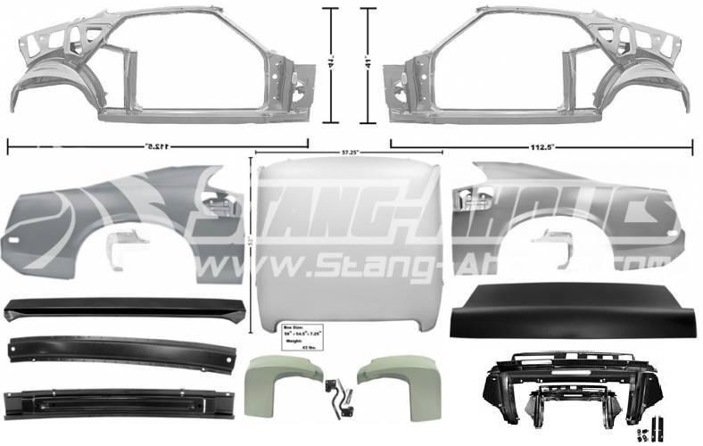 69 Mustang Coupe To Fastback Sheet Metal Conversion Kit
