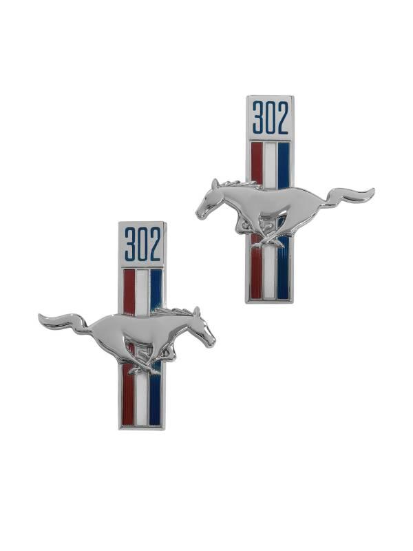 Mustang Fender Emblem Running Horse RH 1964 1965 1966 1967 1968 Scott Drake