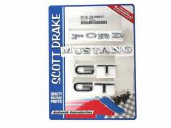 Scott Drake - 1967 Mustang  Emblem Kit GT (All bodystyles 8 Cylinder 4 Speed)