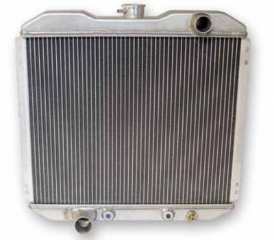 Scott Drake - 67 - 69 Mustang Aluminum Radiator, 2 Row, 5.0L, 302, 351C Engine Swap