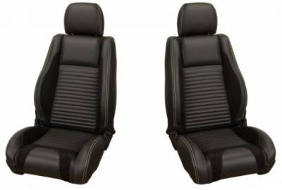 TMI Products - 05 - 07 Mustang  Sport R Seat Uplstry, Front Seats, Black Stitching