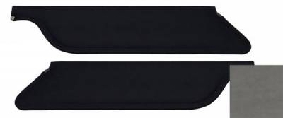 TMI Products - 64 - 66 Mustang Gray UniSuede Sun Visors, Pair, Coupe/Fstbk