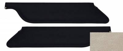 TMI Products - 67 - 68 Mustang Parchment Vinyl Sun Visors, Pair, Coupe/Fstbk