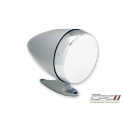 California Pony Cars - 65 - 68 Mustang Bullet Style Mirror Drivers Side, Argent Silver