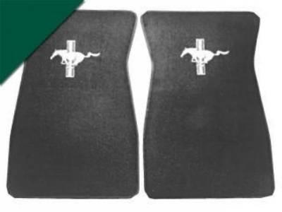 Scott Drake - 1964 - 1973 Mustang  Embroidered Carpet Floor Mats (Dark Green)