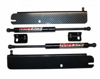 MRT - 94 - 04 Mustang MRT Hood Struts-Black Carbon Fiber
