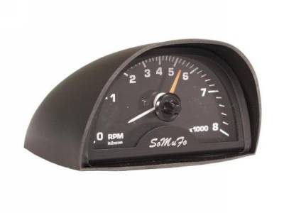 Scott Drake - 65-70 Mustang Hood Mounted Tach (with Black Face, 8000 RPM