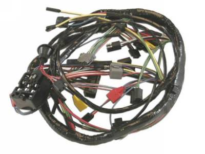 1968 mustang under dash wire harness, use without tachometer 1968 mustang wire harness upgrade kit