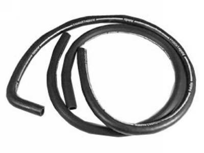 Scott Drake - 1969 Mustang Concourse Heater Hose (with A/C, Red Stripe)
