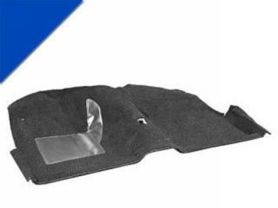 Scott Drake - 65-68 Mustang Molded Carpet Kit (Bright Blue)
