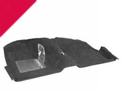 Scott Drake - 65-68 Mustang Molded Carpet Kit (Bright Red)