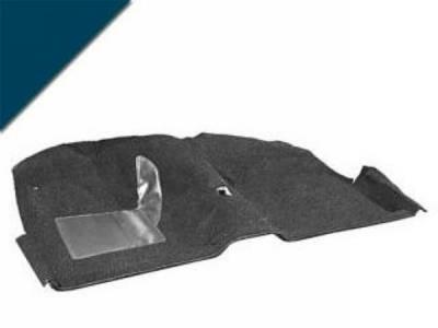 Scott Drake - 65-68 Mustang Molded Carpet Kit (Dark Blue)