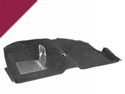 Scott Drake - 65-68 Mustang Molded Carpet Kit (Maroon)