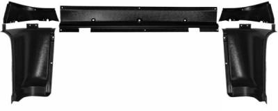 Scott Drake - 65 - 66 Mustang Upper Back Trim Panels, 5 Piece, Fstbk