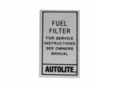 Scott Drake - 1967 - 1970 Mustang Autolite Fuel Filter Decal