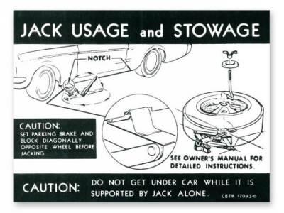 Scott Drake - 1968 Mustang  Jack Instructions (Styled Wheel)