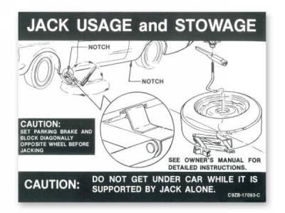 Scott Drake - 1969 - 1970 Mustang  Jack Instructions (Regular Wheel)