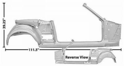 Dynacorn - 65-66 Mustang RH Side Door and Quarter Panel Frame