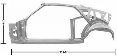 Dynacorn - 69 Mustang Fastback Quarter/Door Frame Assembly LH