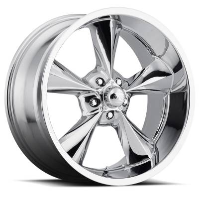 "Voxx - 64 - 73 Mustang Old School Chrome Wheel 17 X 9.5 , 5.50"" bs, Set of 4"