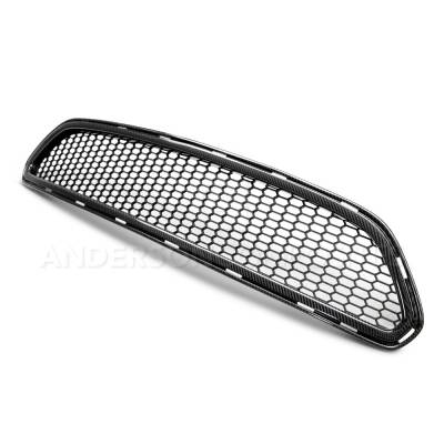 Anderson Composites Mustang Parts - 2015 - 2016 MUSTANG TYPE-AE Carbon Fiber Front Upper Grille