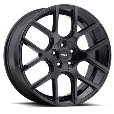 "Voxx - 05 - Current Mustang Lago Gloss Black Wheel 20 X 9.5 , 6.80"" bs, EACH"