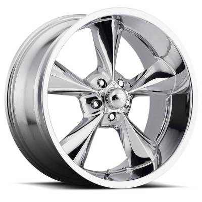 """Voxx - 64 - 73 Mustang Old School Chrome Wheel 17 X 8 , 4.50"""" bs, EACH"""