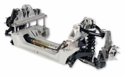 Detroit Speed - 65 - 70 Mustang Detroit Speed Aluma-Frame Front Suspension Kit, Single Adjustable Shocks