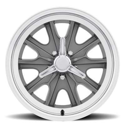 Legendary Wheel Co. - 17 x 7 Legendary HB45 Alloy Wheel, 5 on 4.5 BP, 4.25 BS, 5 Lug, Charcoal/ Machined