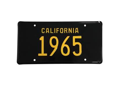 Scott Drake - 1965 Mustang California License Plate