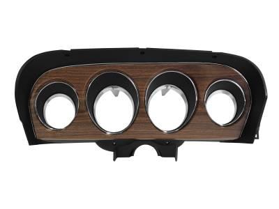Scott Drake - 1969 Mustang Deluxe Instrument Bezel, Woodgrain Insert
