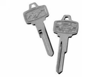 Scott Drake - 1965 - 1966 Mustang  Original Pony Key Blank Ignition & Door