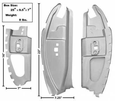 Dynacorn - 69 - 70 Mustang Fastback B Pillar Set - Weld Thru Primer