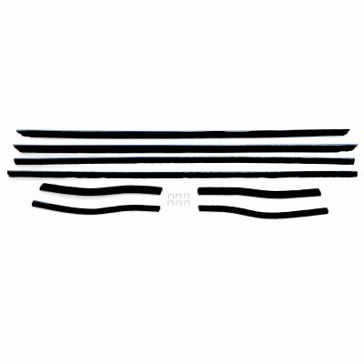 All Classic Parts - 67-68 Mustang Window Felt Weatherstrip Kit, Coupe (8 Pcs)