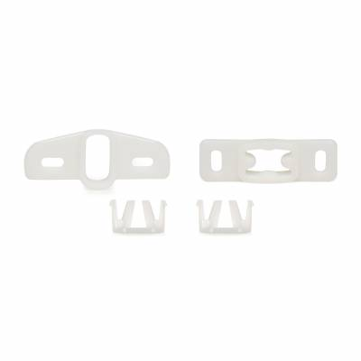 All Classic Parts - 71-73 Mustang Window Guide Anti-Rattle Set, Upper/Lower Plastic, 4pcs