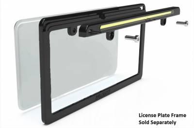 Miscellaneous - Universal LED License Plate Back Up Light, Gloss Black